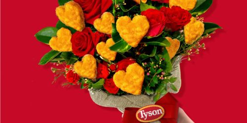 Give Your Valentine a Bouquet of Tyson's Heart-Shaped Chicken Nuggets + Enter to Win $5000!