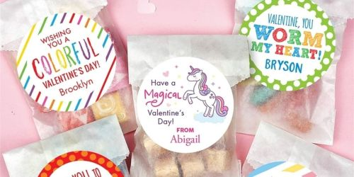 Personalized Valentine's Kit Only $12 Shipped | Includes 24 Stickers & Candy Bags