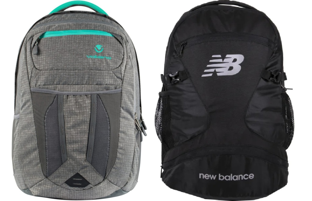 volkano and new balance backpacks from office depot