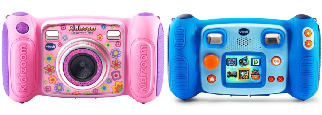 vtech kidizoom cameras in pink and blue