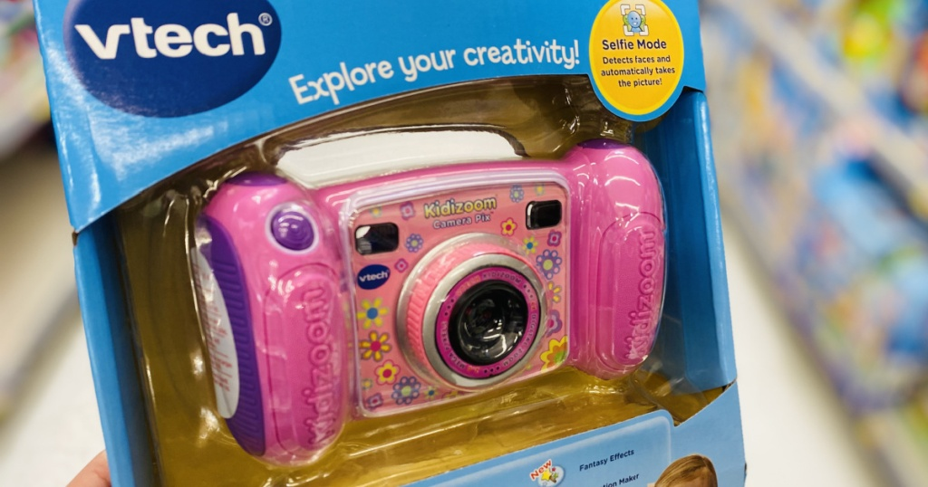 vtech kids camera in hand in store