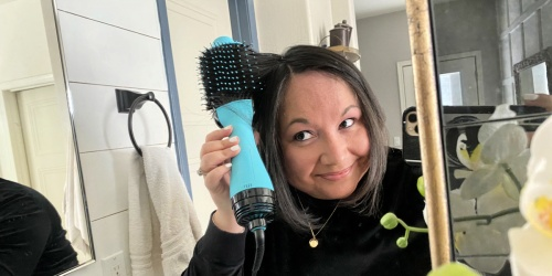 This Blow Dryer Brush Is a Game Changer For Styling Hair!