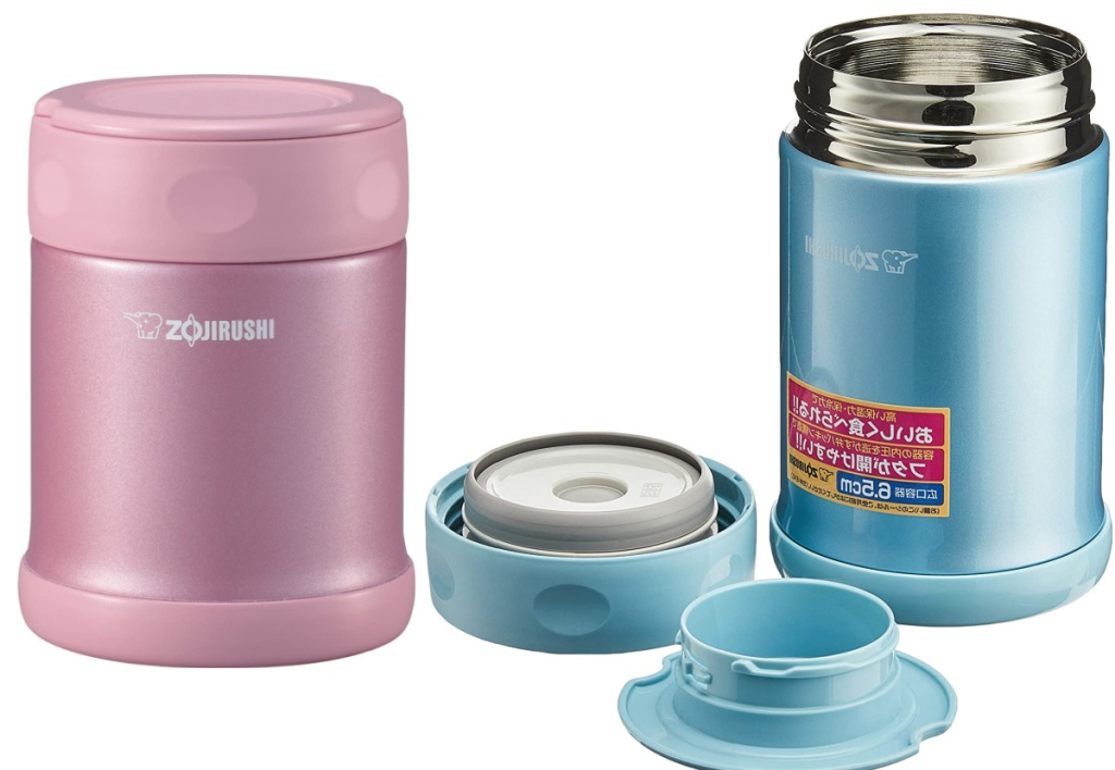 zojirushi food containers pink and blue