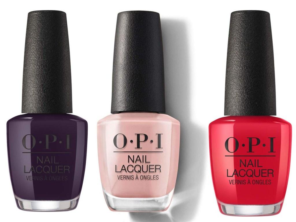 3 OPI nail polish