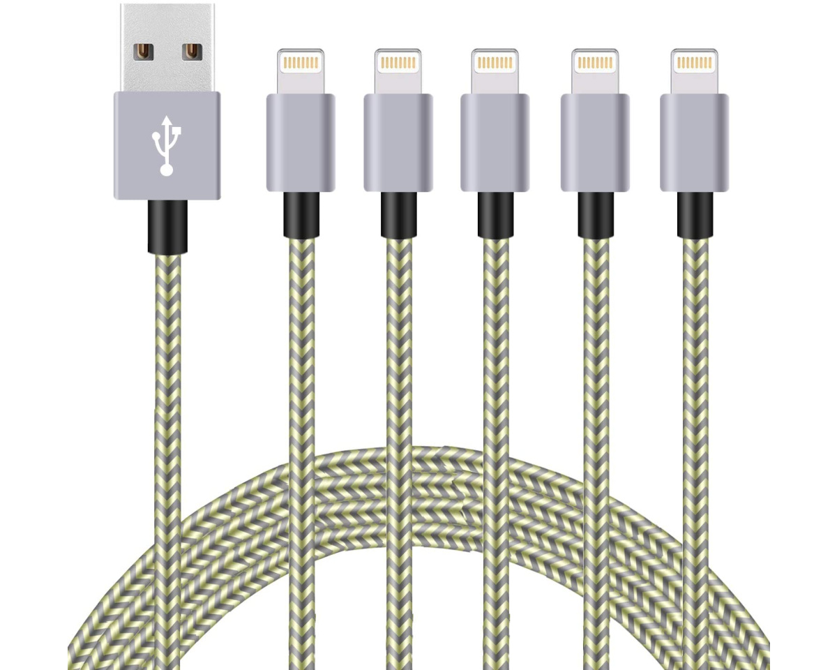 firsting 5-pack gold charging cables