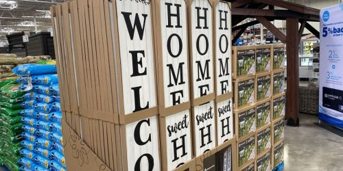 74-Inch Farmhouse Porch Signs Only $29.98 at Sam's Club | In-Store and Online