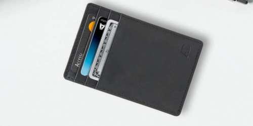 Leather RFID Blocking Wallet Just $9.99 on Amazon (Regularly $20)   Includes Lifetime Warranty