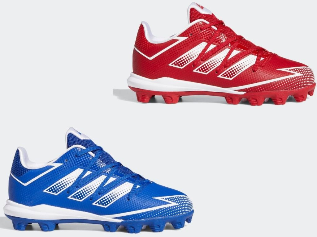 two Adidas kids cleats