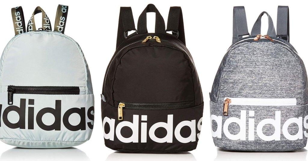 three adidas mini backpacks