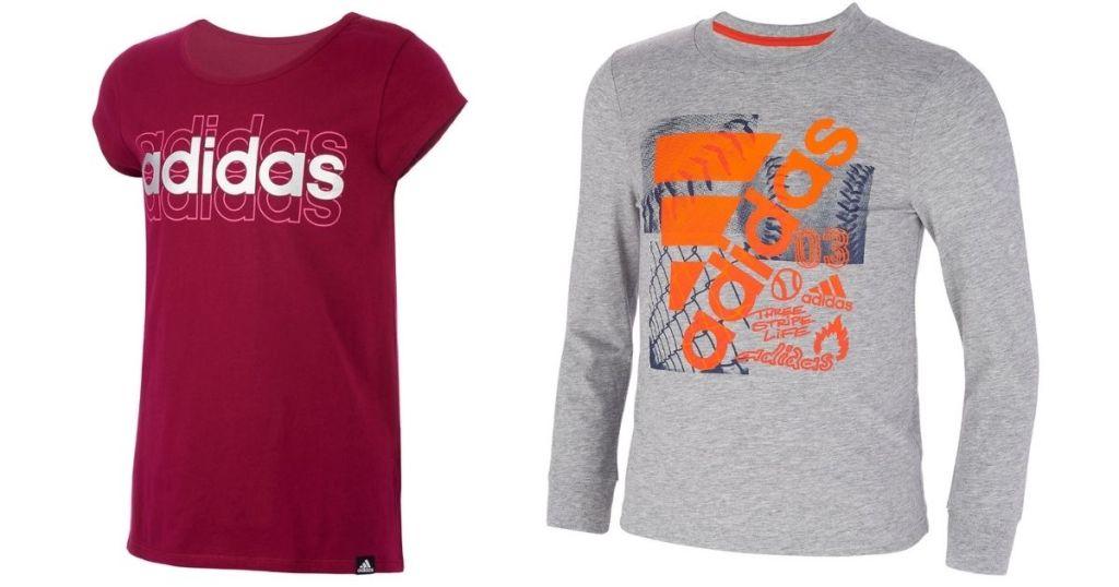 girls and boys Adidas Kids T-shirts