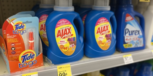 Ajax Laundry Detergent Only 99¢ at Walgreens | Great Donation Item