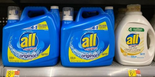 ALL Liquid Laundry Detergent 88oz Bottles from $2.27 Each After Rebate & Cash Back at Walmart