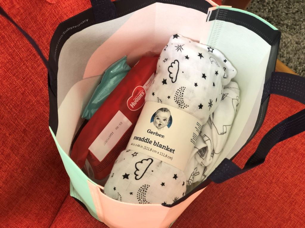 swaddle blanket in a bag