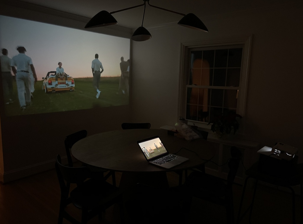 Projector in use