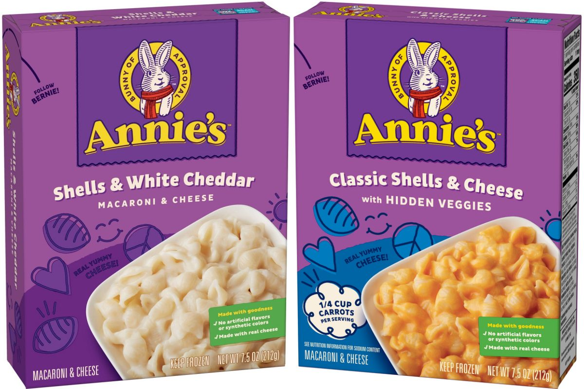 two boxes of frozen mac and cheese