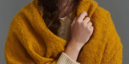 Extra 50% Off Sale Items on Anthropologie   Boucle Scarf Only $9.98 Shipped (Regularly $48) + More
