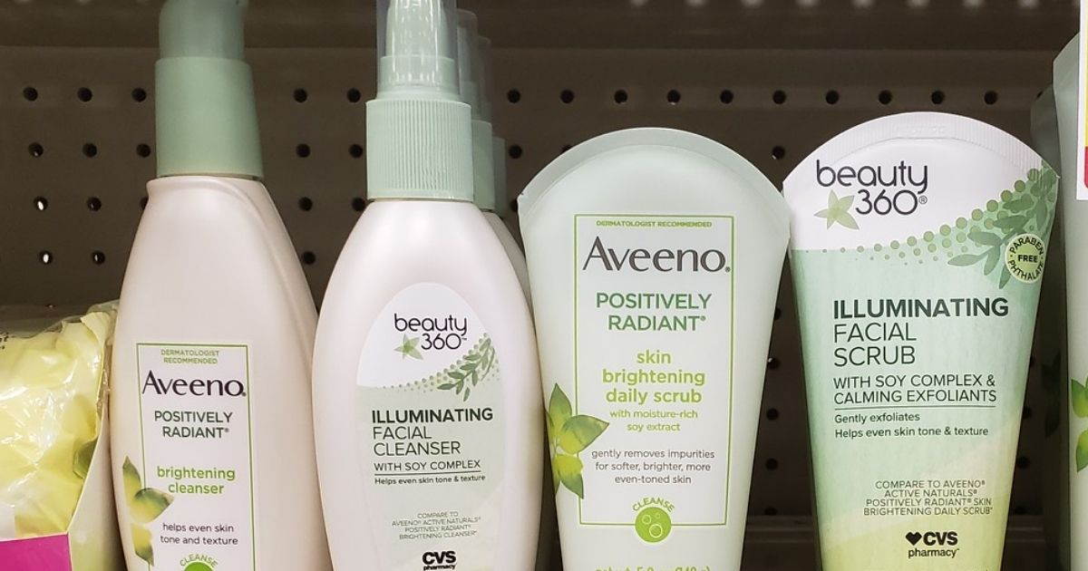 Aveeno products on shelf
