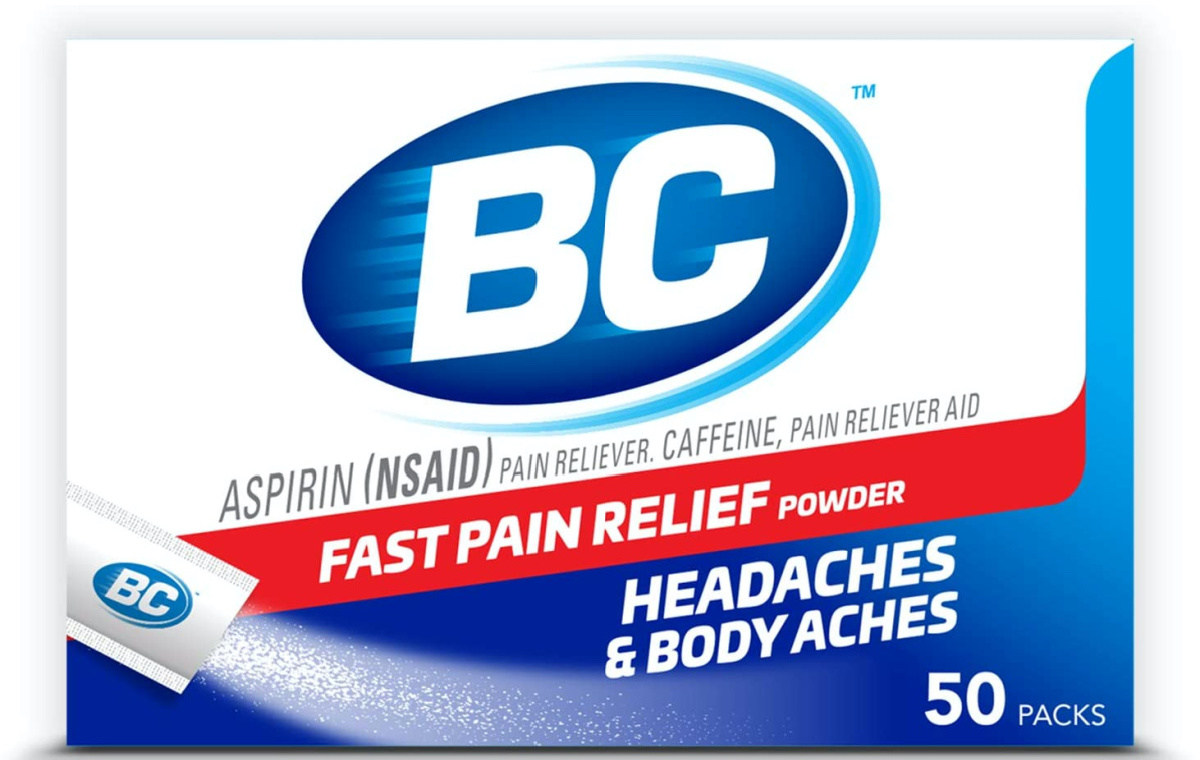 stock image of bc powered pain reliever packets