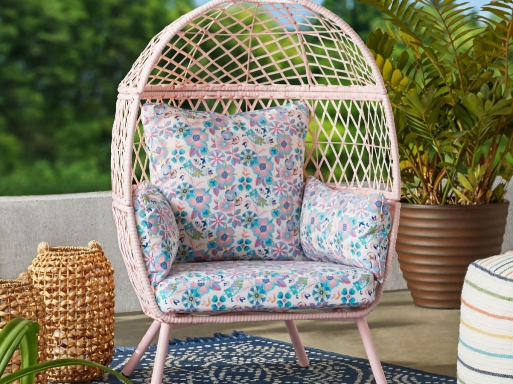 BHG Kids Egg Chair with cushions
