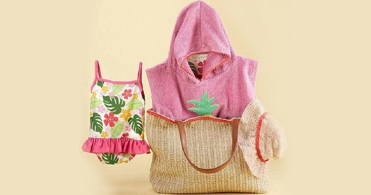 Baby Aspen brand gift set collection with swim suit