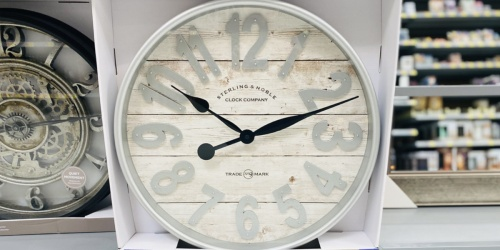 Better Home & Gardens Farmhouse Wall Clock Only $24.92 at Walmart | In-Store & Online