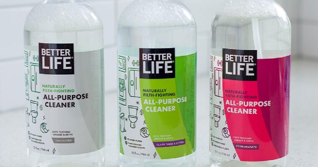 better life multipurpose sprays on a countertop