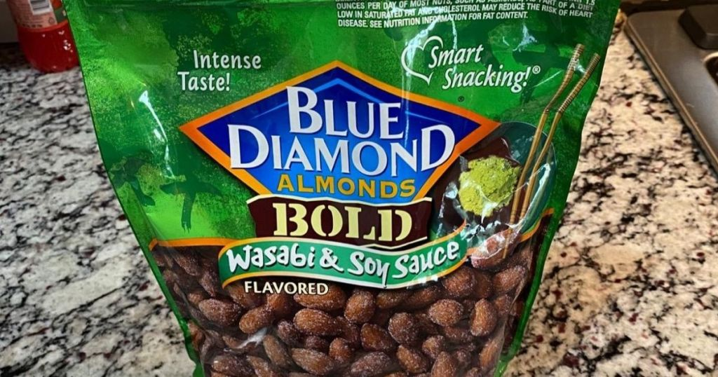 Blu Diamond Bold Wasabi Soy Sauce Almonds