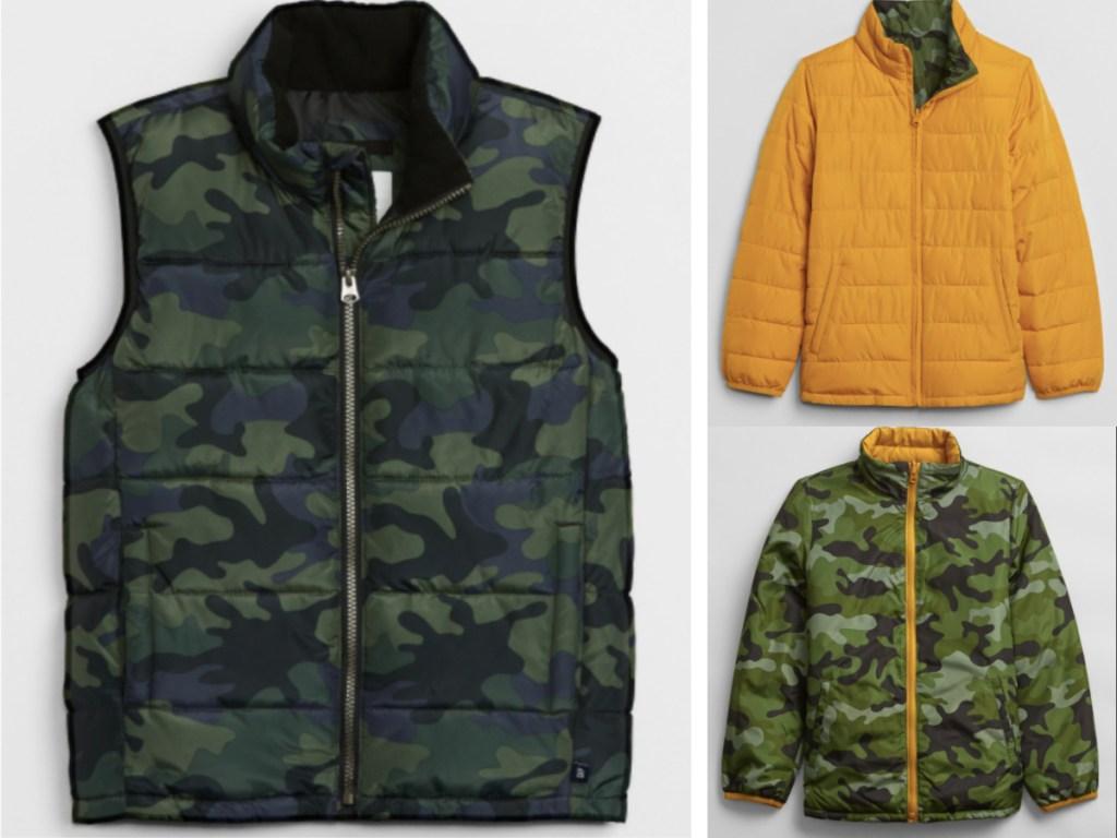 boys jacket and puffer jacket
