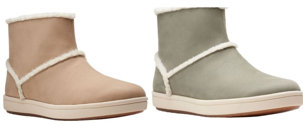 2 pair Clarks Short Boots