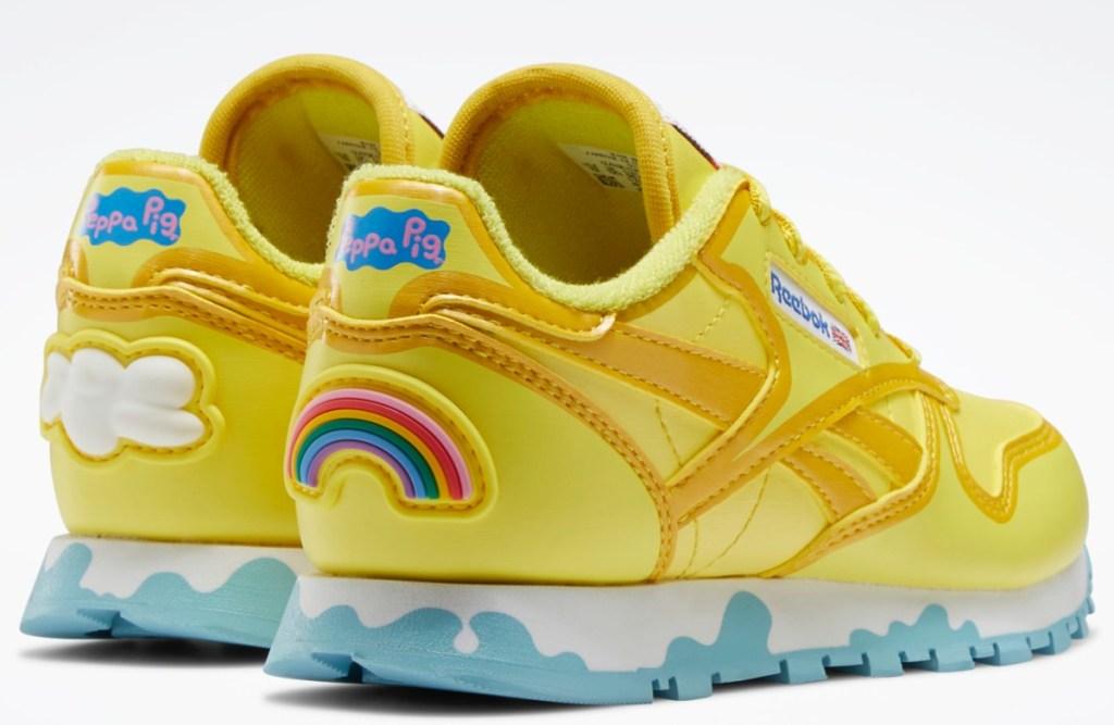 yellow Peppa Pig x Reebok shoes