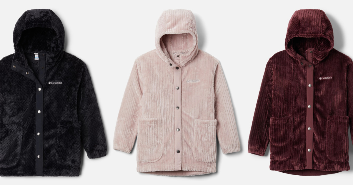 Columbia kids plush jacket in three color choices