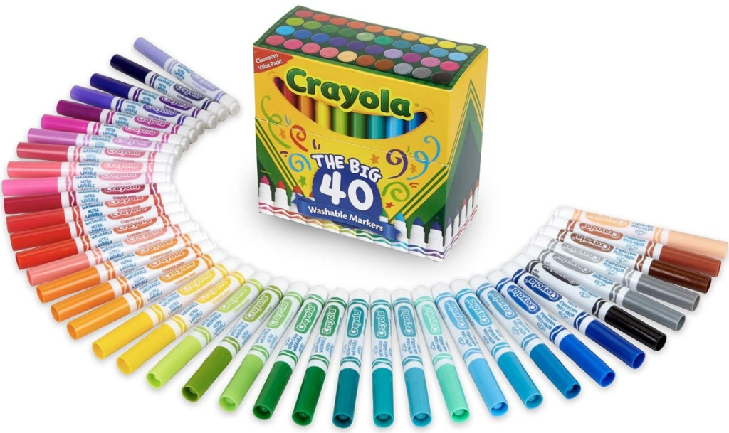 Large collection of markers