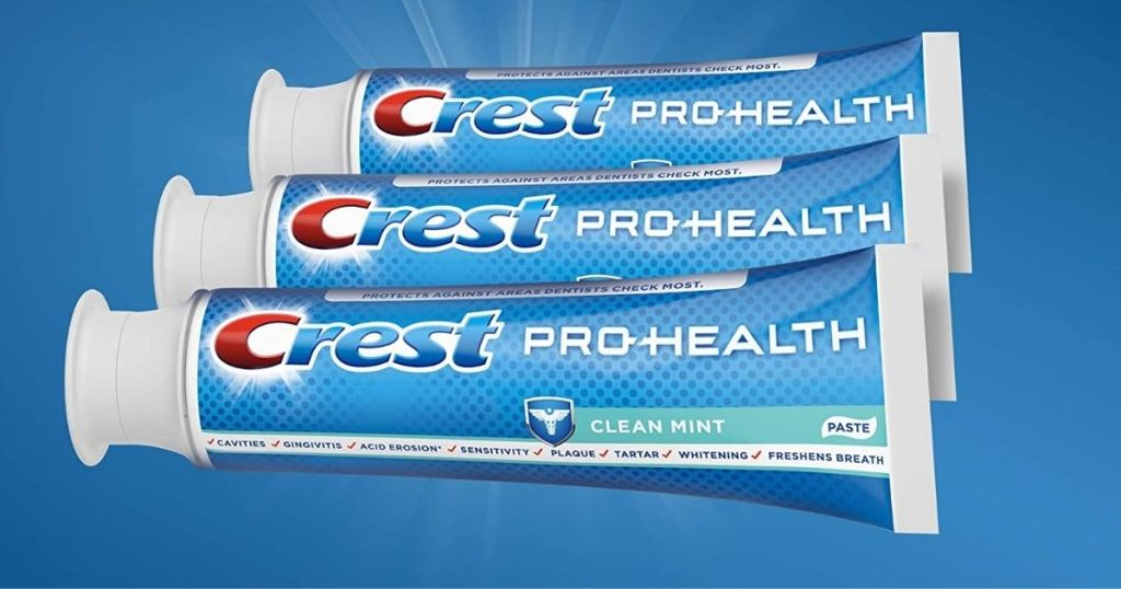 3 tubes of Crest Pro-Health Clean Mint