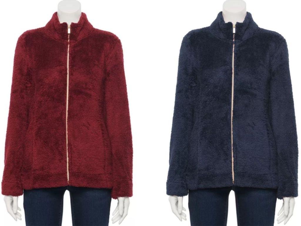 Croft & Barrow Women's Cozy Fleece Jackets