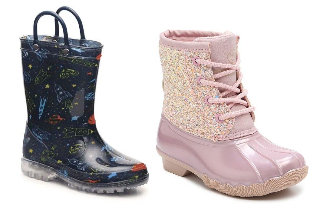 2 pair DSW Kids Boots