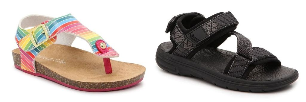 2 pair of DSW Kids Clearance Sandals