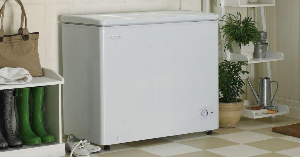 chest freezer in room