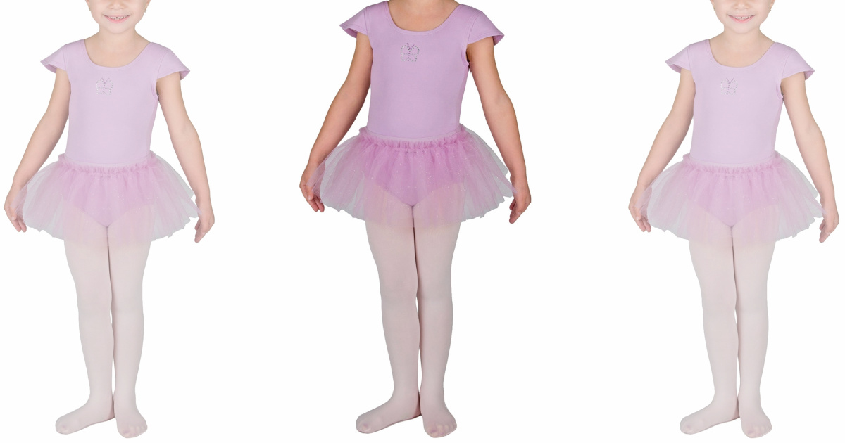 girl in purple butterfly ballerina outfit