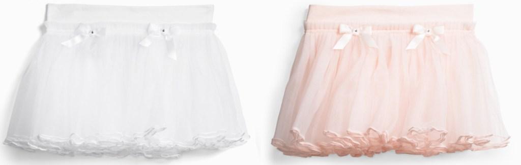 white and pink tutus