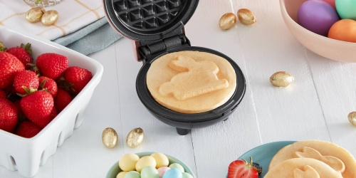 Bunny & Floral Design Dash Mini Waffle Makers Only $9.99 at Target | Perfect for Easter