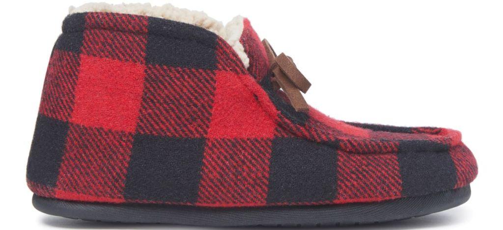 plaid slipper
