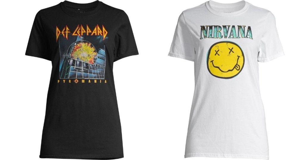 Def Leppard and Nirvana Tees