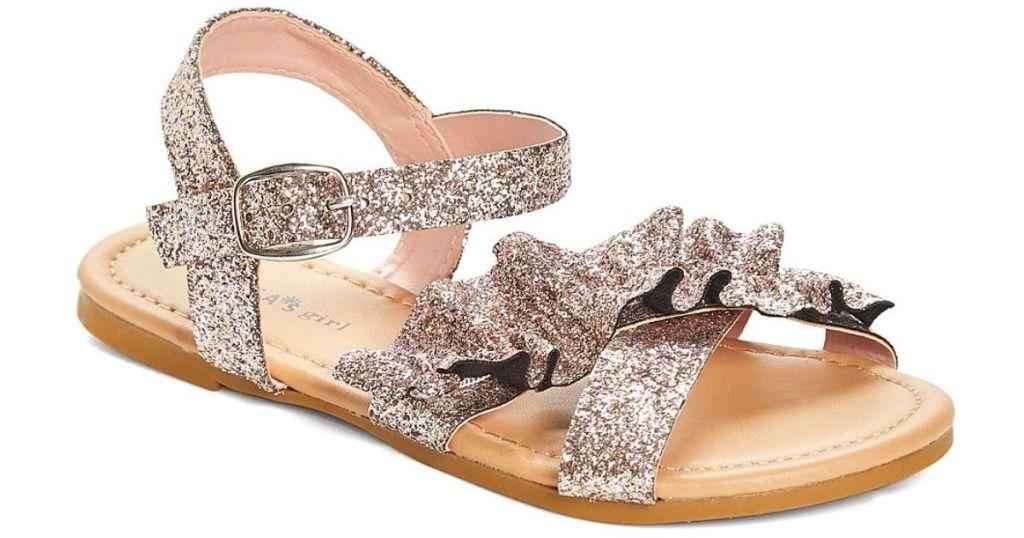 Delia's Glitter Bow Sandal rose gold