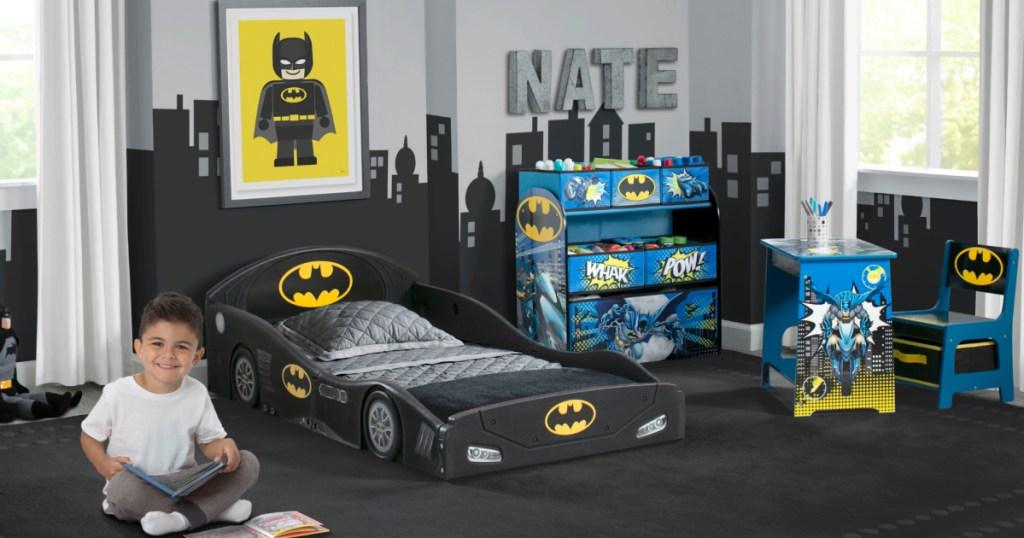Batman themed kids bedroom set