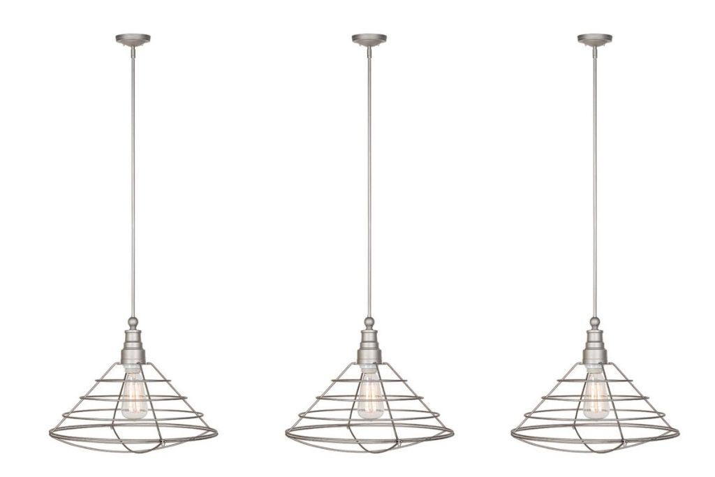 3 Design House Ajax Industrial Modern Indoor Pendant in Galvanized Steel