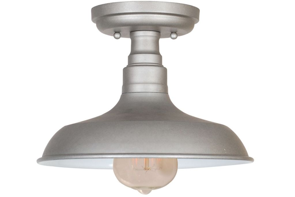 Design House Kimball Industrial Farmhouse Ceiling Light in Galvanized Steel