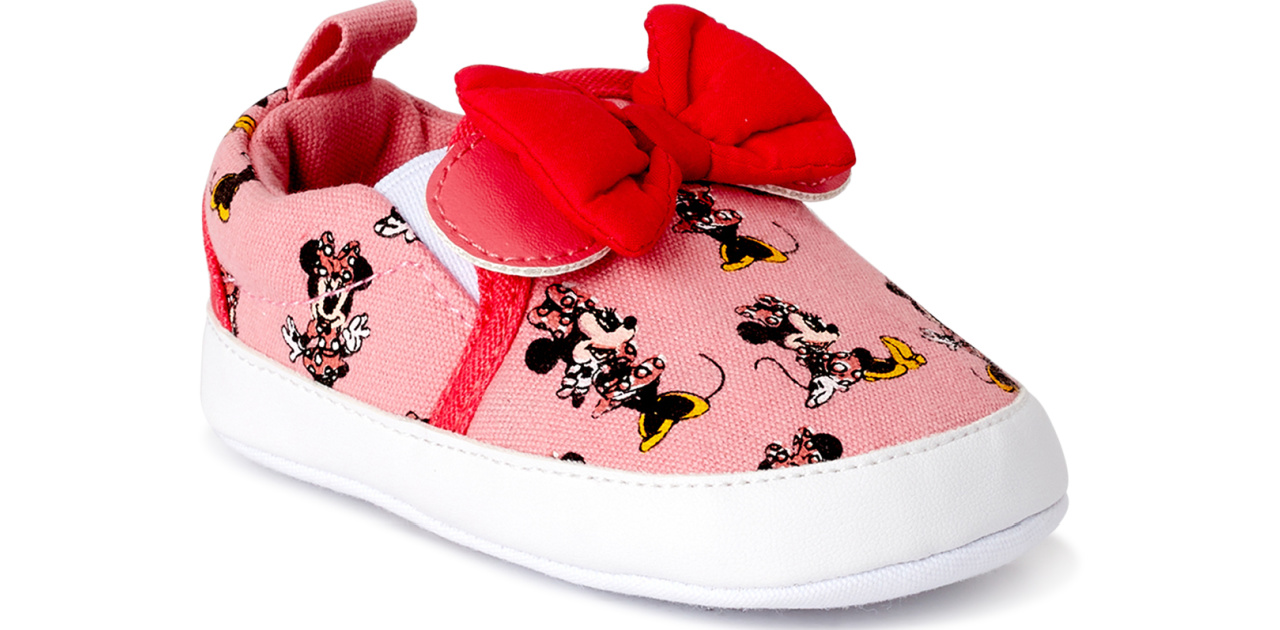 minnie mouse baby shoe