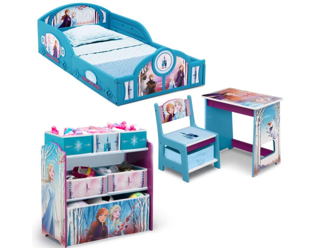 Disney Frozen themed kids bedroom set