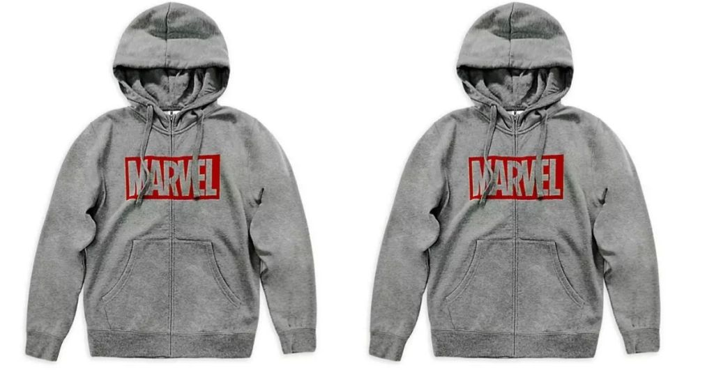 2 views of Disney Mens Marvel Hoodie