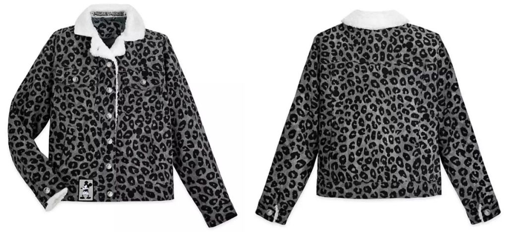front and back of Disney Women's Grayscale Jacket